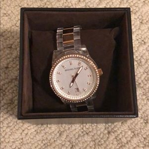 Rose Gold Clear Michael Kors Watch